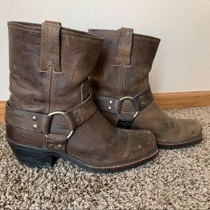 Harness Leather Frye Boots